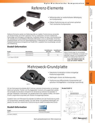 Referenz-Elemente, Mehrzweck-Grundplatte, Kinematische Repositionierplatten