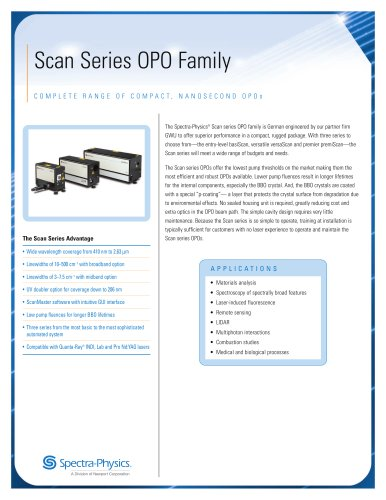 Scan Series Nanosecond OPO Family