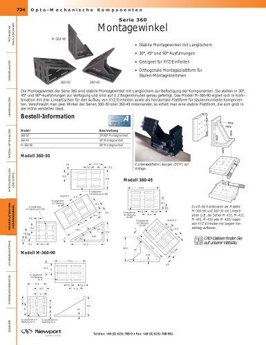 Serie 360  Montagewinkel