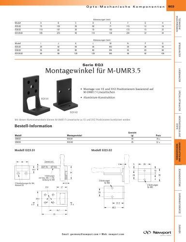 Serie EQ3  Montagewinkel für M-UMR3.5