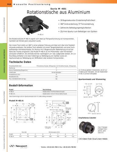 Serie M-481 Rotationstische aus Aluminium