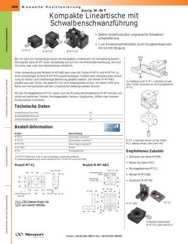 Serie M-MT Kompakte Lineartische mit  Schwalbenschwanzführung