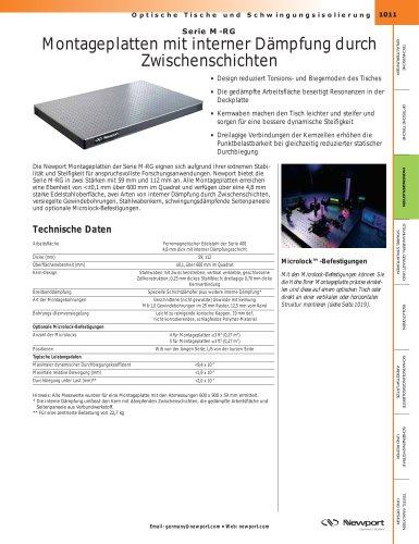 Serie M-RG  Montageplatten mit interner Dämpfung durch Zwischenschichten