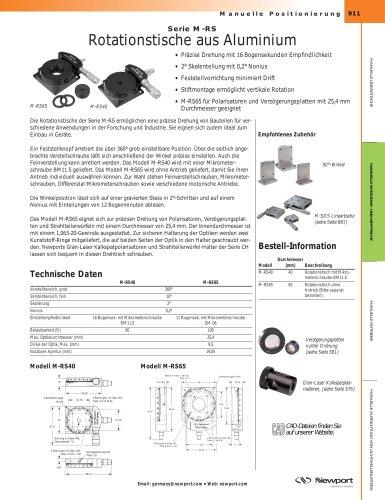 Serie M-RS Rotationstische aus Aluminium