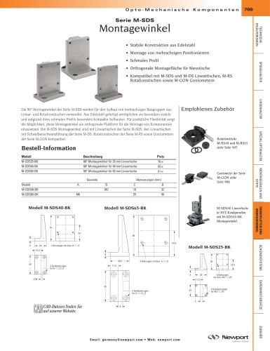 Serie M-SDS Montagewinkel