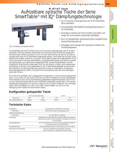 Série M-ST-UT Tables d'optique évolutives SmartTable® avec la technologie d'amortissement IQ®