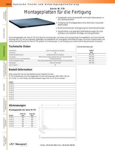 Serie M-TD Montageplatten für die Fertigung