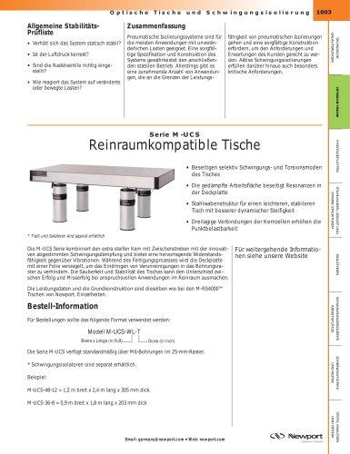 Serie M-UCS Reinraumkompatible Tische