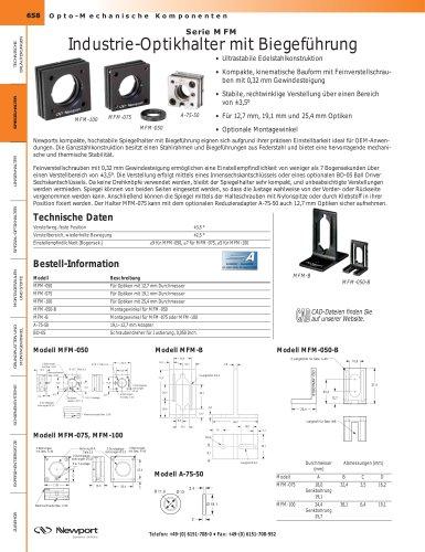 Serie MFM  Industrie-Optikhalter mit Biegeführung