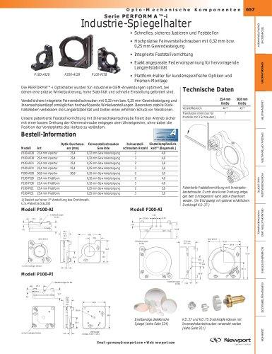 Serie PERFORMA™-i  Industrie-Spiegelhalter