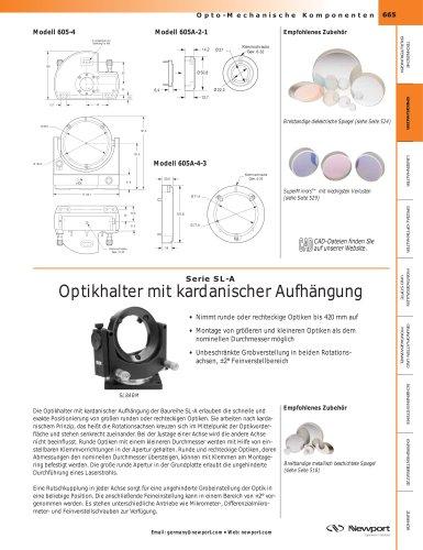 Serie SL-A  Optikhalter mit kardanischer Aufhängung