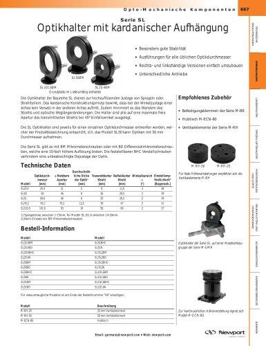 Serie SL Optikhalter mit kardanischer Aufhängung