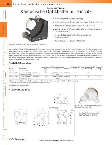 Serie ULTIMA® Kardanische Optikhalter mit Einsatz