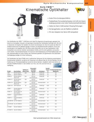 Serie VIZIX™ Kinematische Optikhalter
