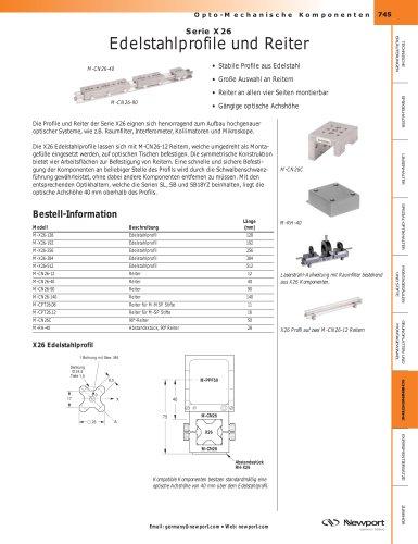 Serie X26 Edelstahlprofile und Reiter
