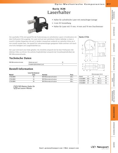 Serie X26 Laserhalter