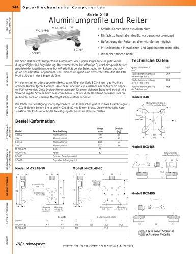 Serie X48 Aluminiumprofile und Reiter