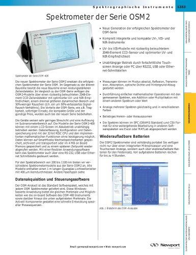 Spektrometer der Serie OSM2