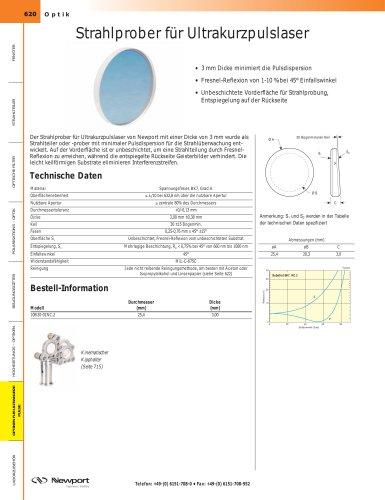 Strahlprober für Ultrakurzpulslaser