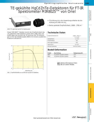 TE-gekühlte HgCdZnTe-Detektoren für FT-IR Spektrometer MIR8025TM von Oriel