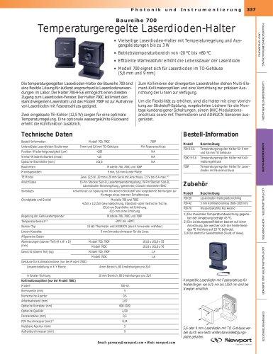 Temperaturgeregelte Laserdioden-Halter, Baureihe 700
