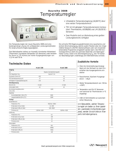 Temperaturregler, Baureihe 300B
