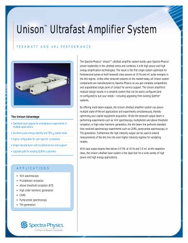 Unison™ Ultrafast Amplifier System