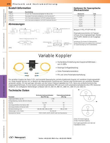 Variable Koppler