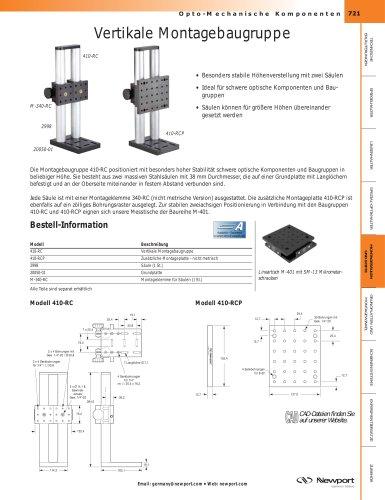 Vertikale Montagebaugruppe