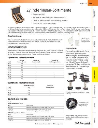 Zylinderlinsen-Sortimente