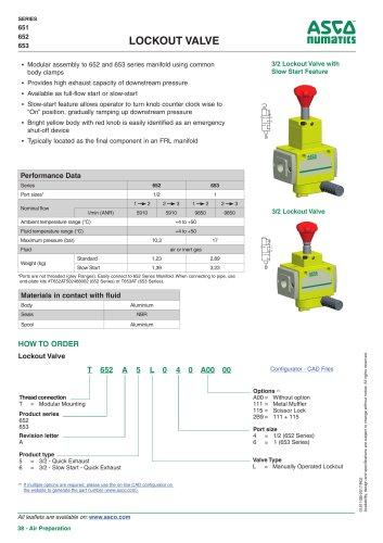 Catalogue-Air Preparation-Valve-651-652-653-1/2-Lock-Out
