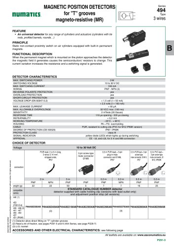 Cylinders & Actuators-Mountings and sensors-494-Magneto-resistive type (MR)