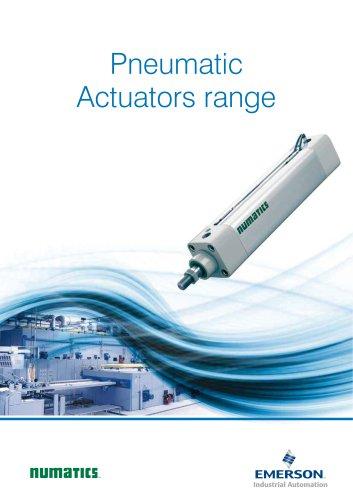 Product Brochure, -Pneumatic actuators range