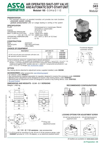 Series 343 type Modulair