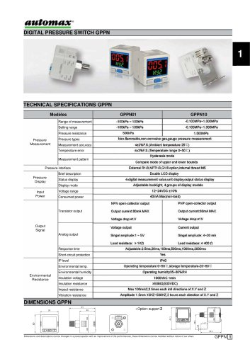 Digital Pressure Switch GPPN