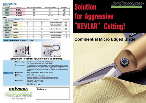 Pneumatic Solutions for Kevlar cutting CCP