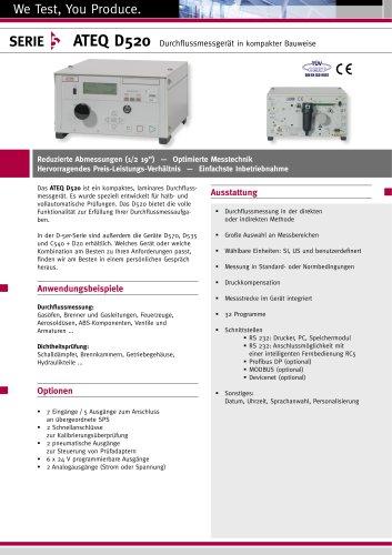 D520 : Durchflussmessgerät in kompakter Bauweise
