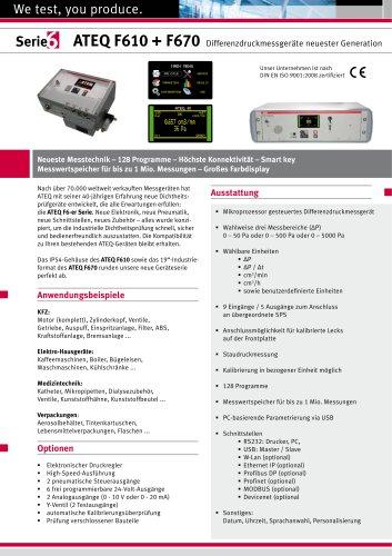 F 670 Differenzdruckmessgerät