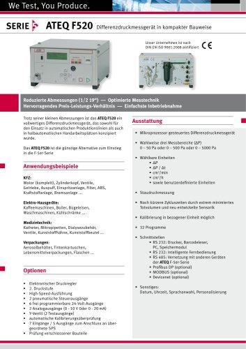 F520 Differenzdruckmessgerät