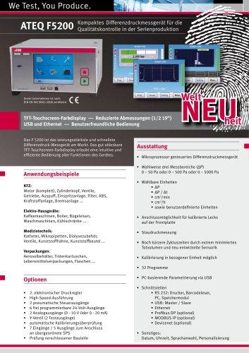 F5200 Differenzdruckmessgerät