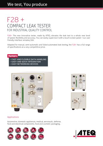 leak tester - leak testing - leak test   F28+