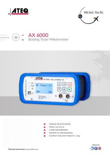 Milliohmmeter - Bonding tester - AX6000