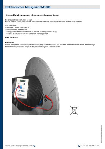 Elektronisches Messgerät CM3000