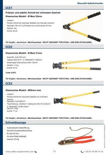 Kabelschere CCE2 -CCE3