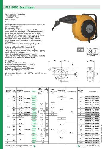 PLT 600S Sortiment