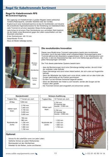 Regal für Kabeltrommeln Sortiment