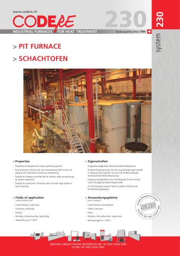 PIT FURNACE system 230