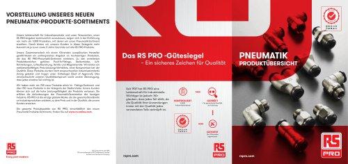 RS PRO Pneumatik Produktübersicht
