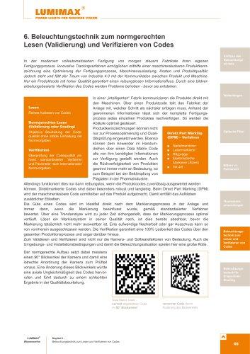 Broschüre zu normgerechtes Lesen und Verifizieren von Codes