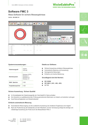 Datenblatt Software FMC 3